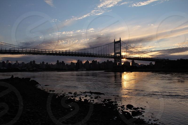 Manhattan. East river. Astoria. City. Skyline.  photo