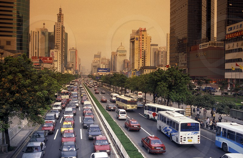 the city of Shenzhen north of Hongkong in the province of Guangdong in china in east asia.  photo