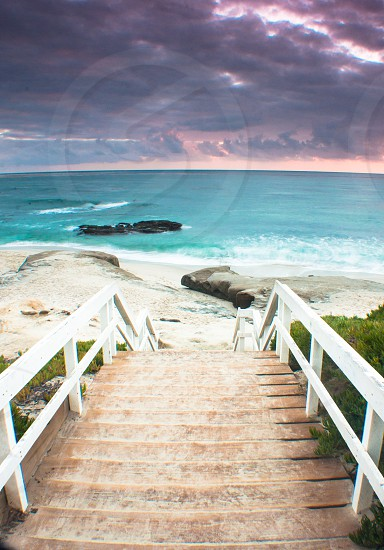 Steps to the beach.  photo