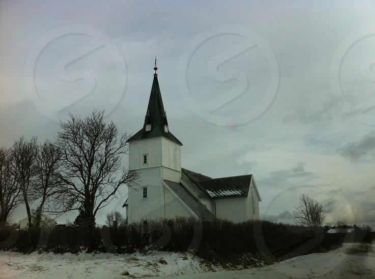 Church in winter photo