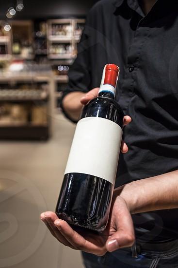 Wine bottle wine shop wine seller sommelier  photo