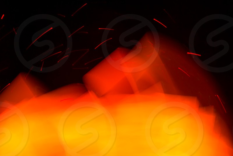 Glowing abstract curved line that looks like fire.