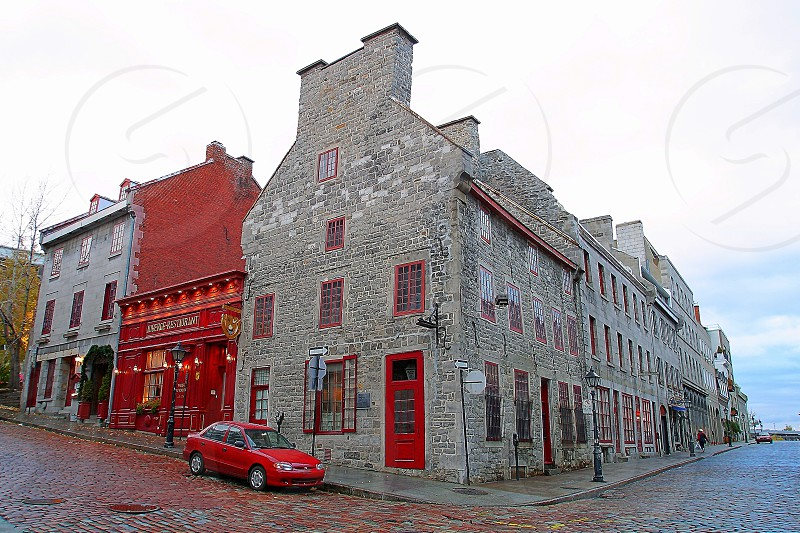 The Red Corner in Montreal Canada. photo