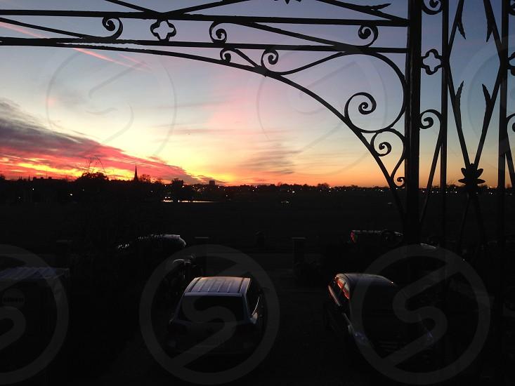 Sunset over Blackheath common photo