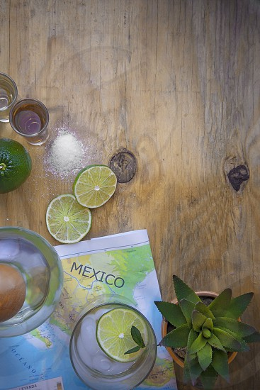 Tequila Mexico Map Salt Lime Agave photo