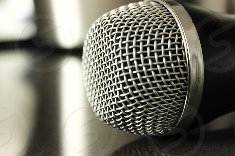 black and silver microphone photo