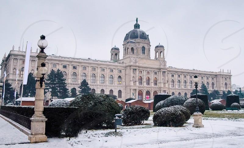 Vienna Hofburg - Imperial Palace Austria misty morning photo