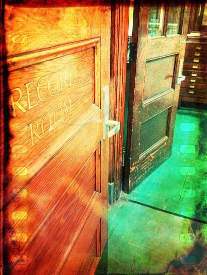 Door in an old school building  photo
