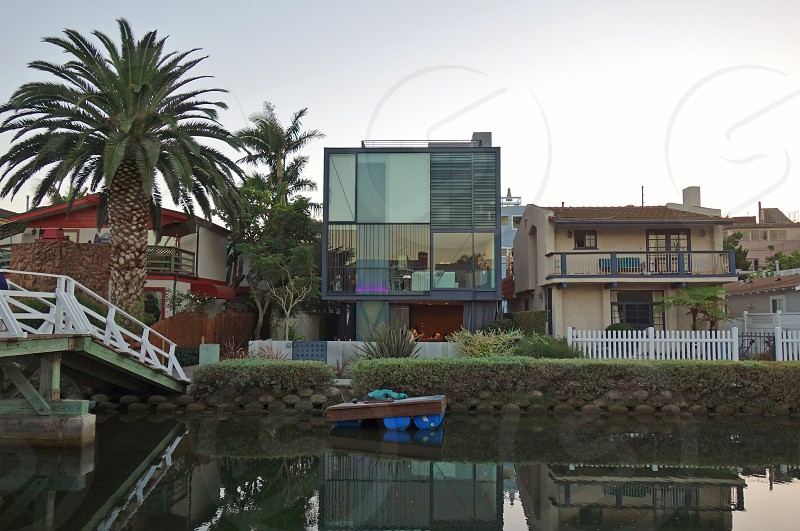 Venice Canal Historic District in Los Angeles California photo
