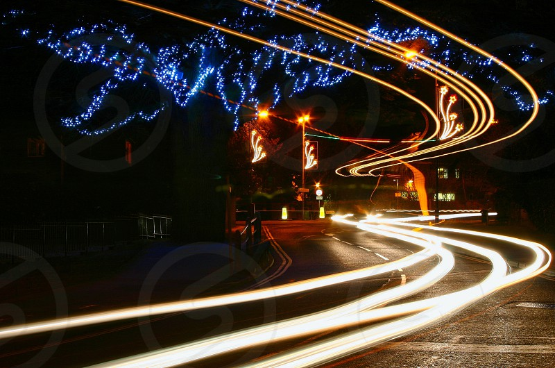 Light Trails Caterham On The Hill photo