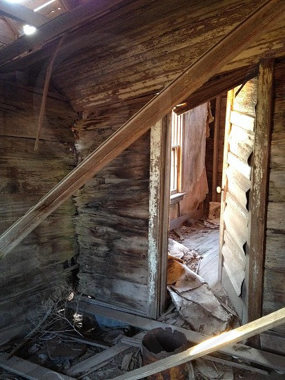 photo of destroyed and old brown wooden house photo