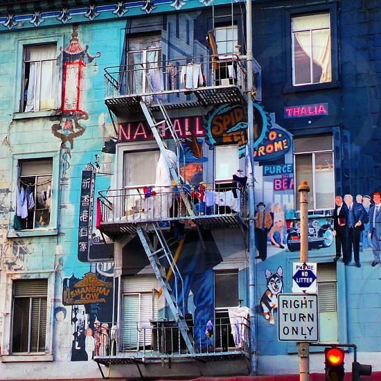 Vibrant block of flats in San Francisco.. photo