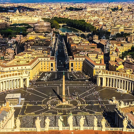 aerial view of St Peter's square photo