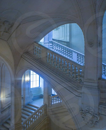 staircase marble luxury ornate stone photo
