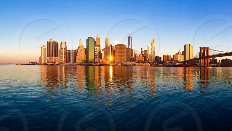 Manhattan sunrise photo