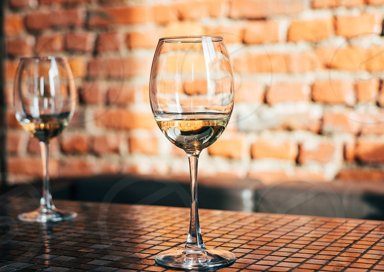 glass of white wine photo
