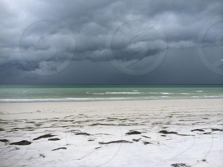 Beach storm fort de soto Florida  photo