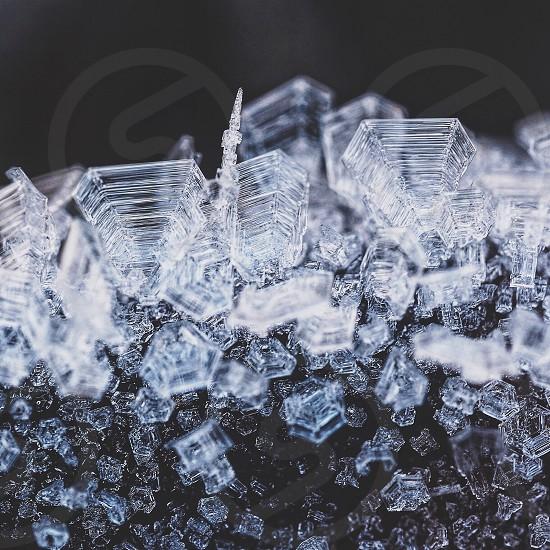 Symmetry symmetric nature macro close ice crystals winter  photo