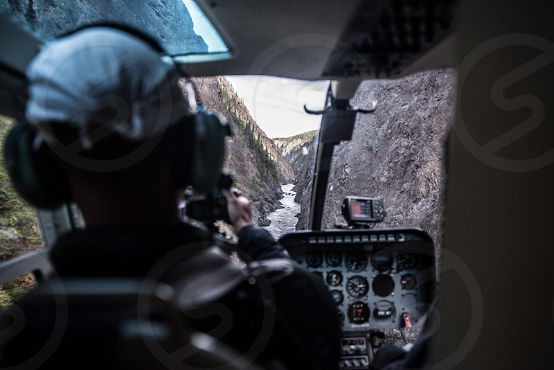 Flying through the Grand Canyon of the North Stikine River Canyon photo
