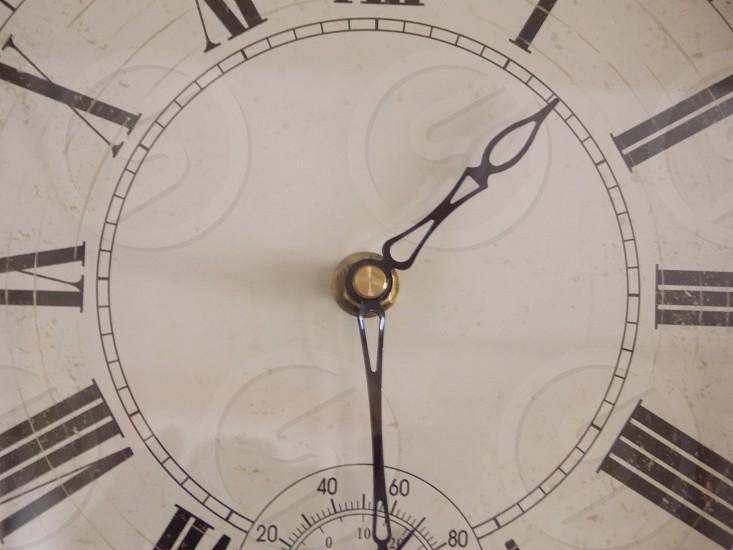black hand clock reading 1:30 photo