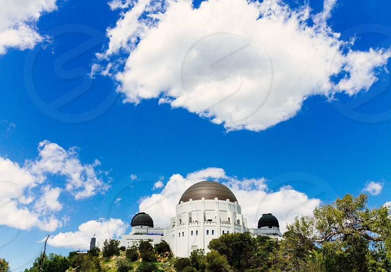 Griffith Observatory Los Angeles. On the Griffith hiking trail. photo