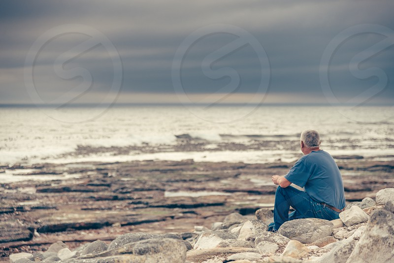 The man and the sea. photo
