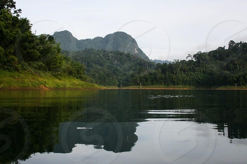 Reflections in a lake Khao Sok photo