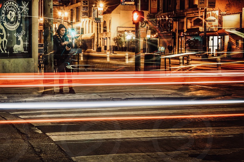 Light trails  Los Angeles  streetphoto street photography  photo