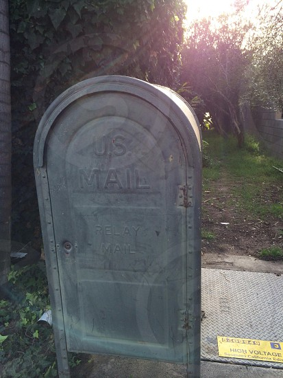 gray us mail box photo