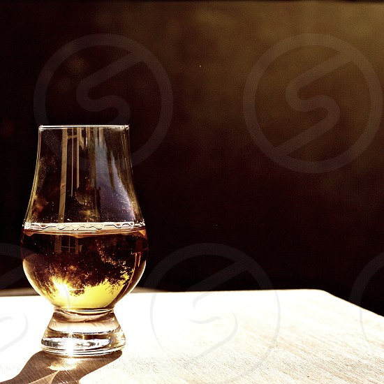 Whiskey at Sunset photo
