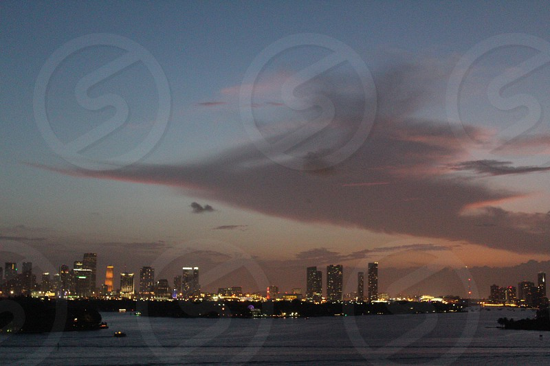 Road Runner Cloud over Miami Biscayne Bay photo