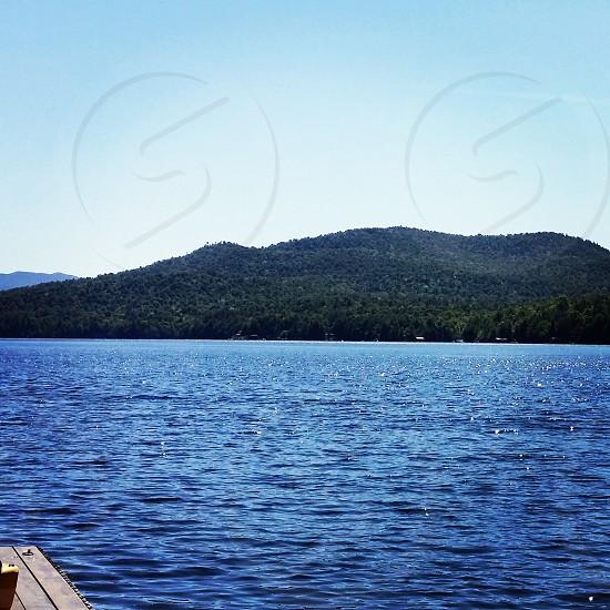 View of Elephants Head Mt.  Adirondack Camp. Lake Titus Malone NY photo