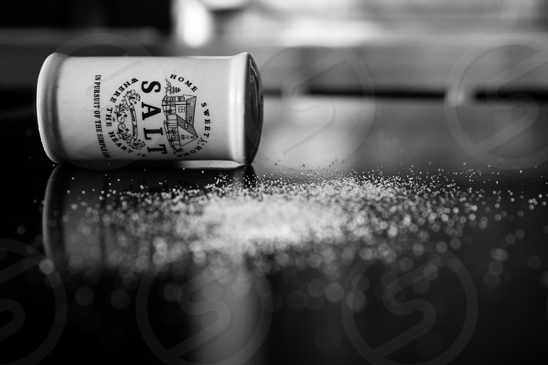 spilled salt photo