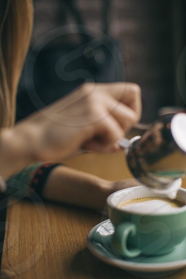 Coffee milk beverage drink photo