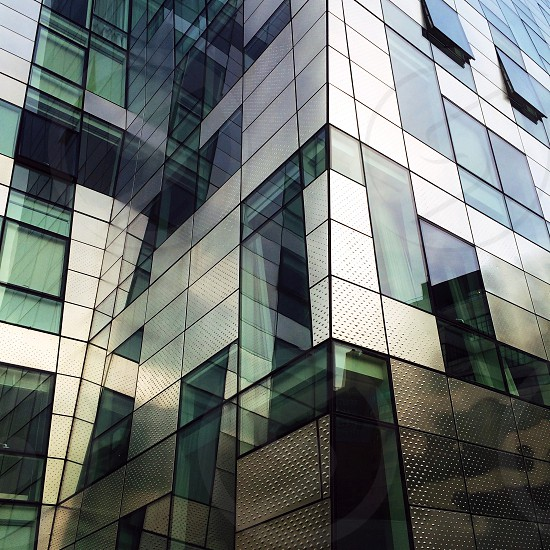 geometric shape building architecture window rectangle glass highline modern photo