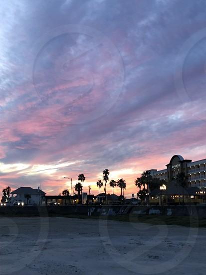 Beach Texas  sand  sunset dusk evening  photo