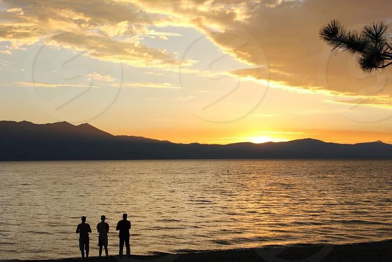 Lake Tahoe at sunset photo