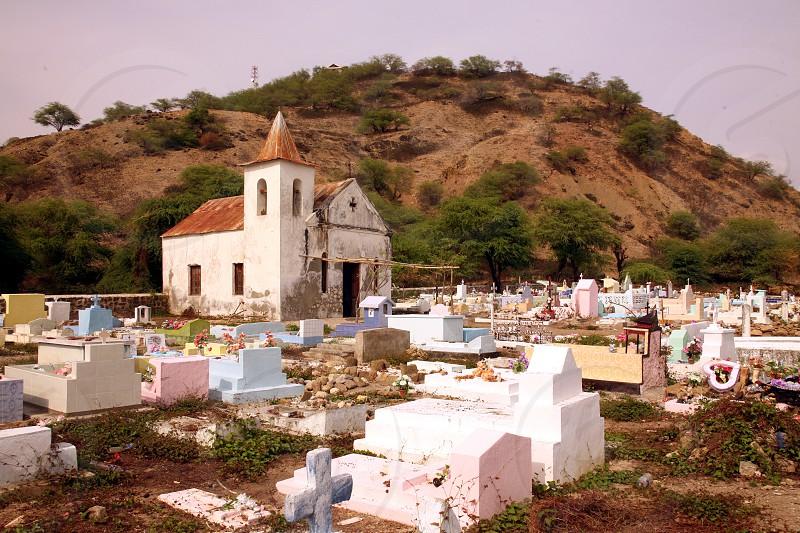 Eine Koloniale Kirche bei Vemasse an der Nordkueste von Ost Timor auf der in zwei getrennten Insel Timor in Asien.   photo