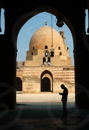 Inside Ahmad Ibn Tolon masjid Cairo Egypt photo
