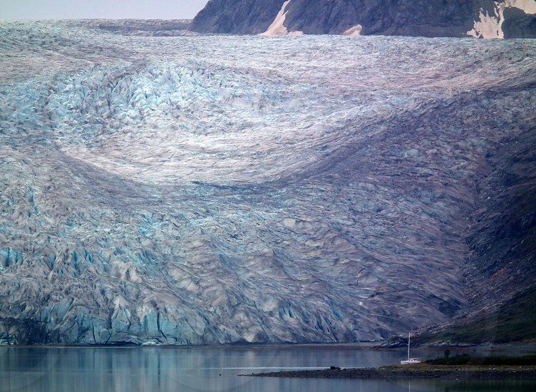 glaciersailboaticebergmountainalaska photo