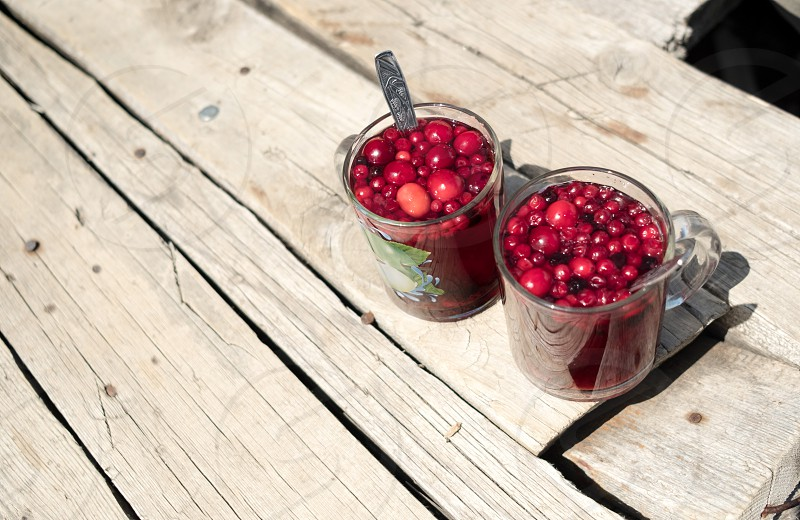 berries in the cup photo
