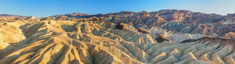 Panoramic view of Zabriskie Point in Death Valley National Park. California. USA photo