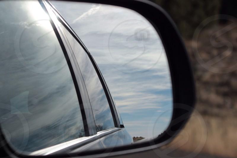 black auto side view mirror photo