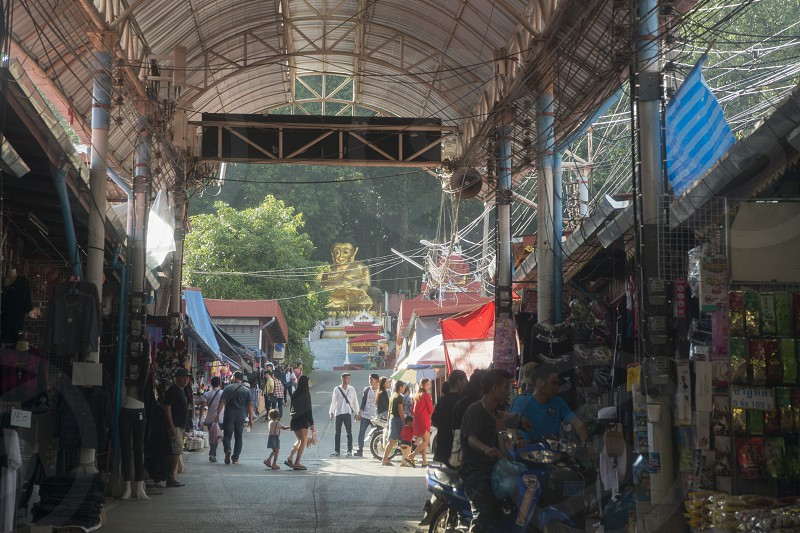the marketstreet in the town of Mae Sai in Thailand on the Thailand & Myanmar Border in the  north of the city Chiang Rai in North Thailand. photo