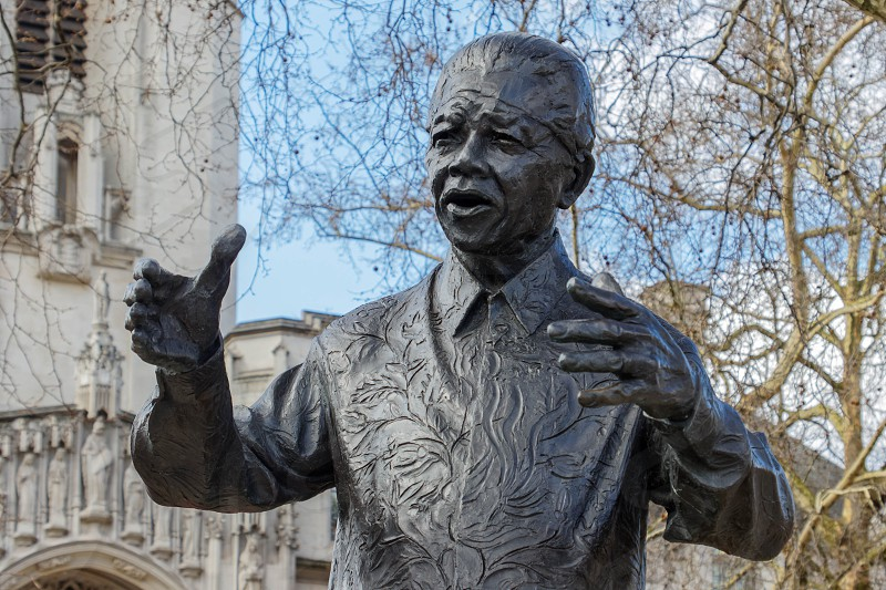LONDON/UK - MARCH 21 : Monument to Nelson Mandela in London on March 21 2018 photo