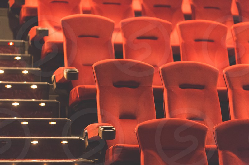 Empty seats at the movie theater photo