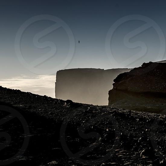 Coast in iceland  island steilküste atlantic ocean photo