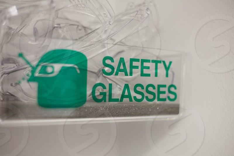 laboratory chemistry safety glasses photo