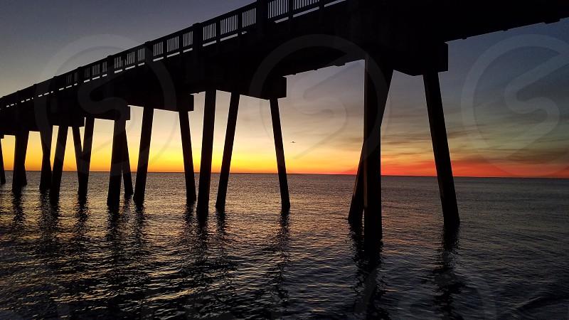 looking at dusk set at county peire panama city beach photo