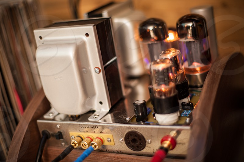 Tube amp photo